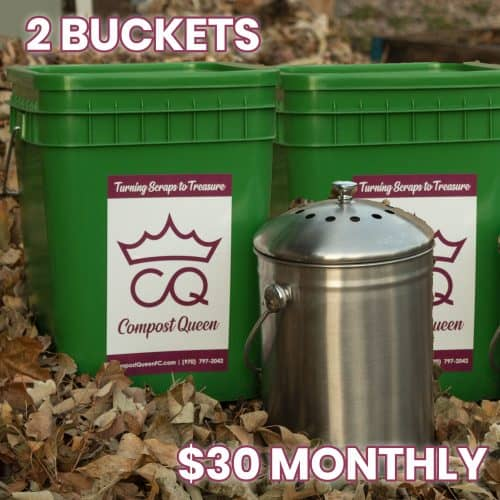 2 compost bins monthly