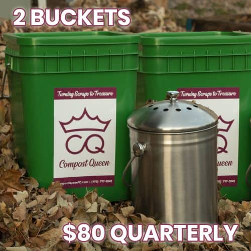 2 compost bins quarterly