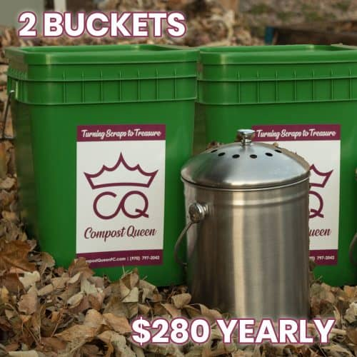 2 compost bins yearly