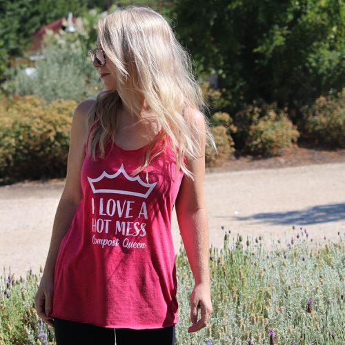 I Love a hot mess Compost queen racerback tank top shirt